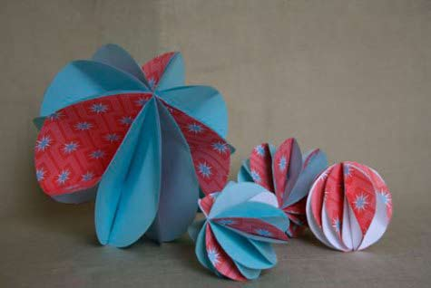 Adornos de navidad : Bola de papel   Bueno, bonito y barato