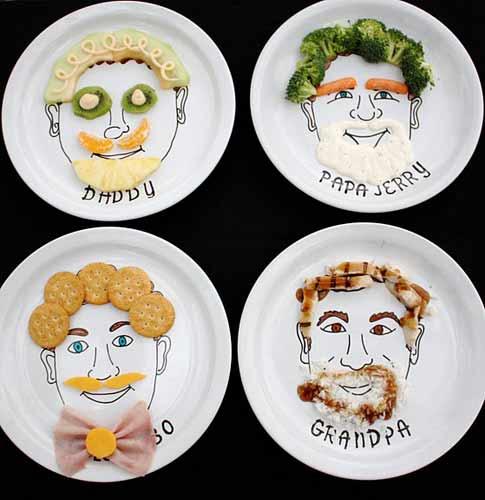 Platos para los niños: Dibujando caras con la comida | Bueno, bonito ...