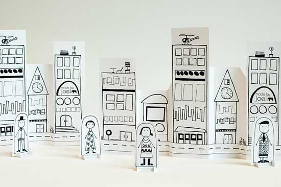 Juegos para niños: Una ciudad de papel | Bueno, bonito y barato