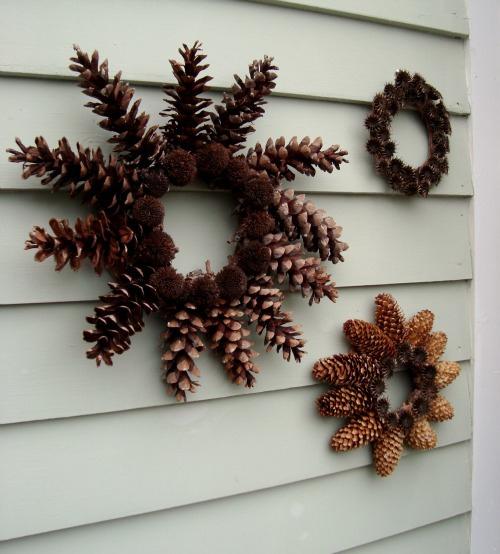 Adornos navide os caseros bueno bonito y barato - Adornos navidad con pinas ...