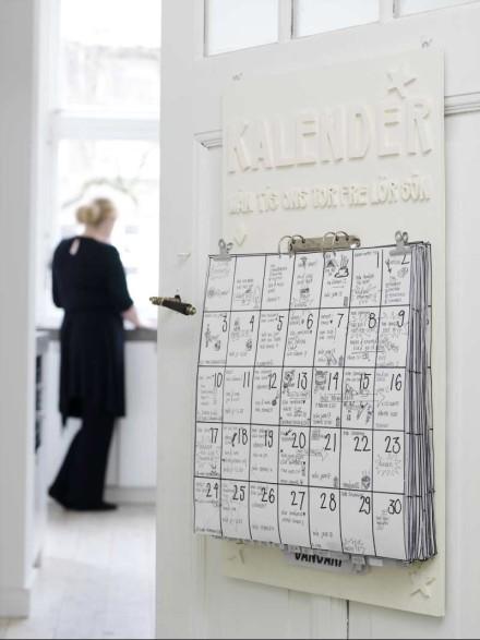 Diy Large Calendar : Un calendario hecho a mano bueno bonito y barato
