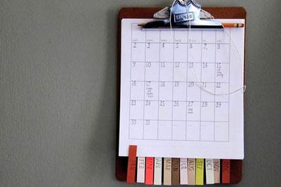 no encuentras un calendario