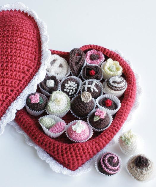San Valent?n: Bombones de crochet Bueno, bonito y barato