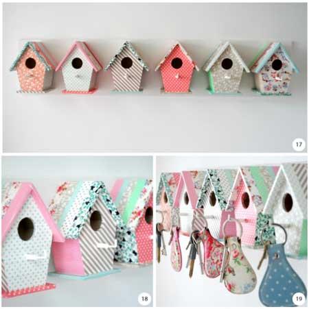 Idea: Una casita para pájaros forrada de Wasi Tape