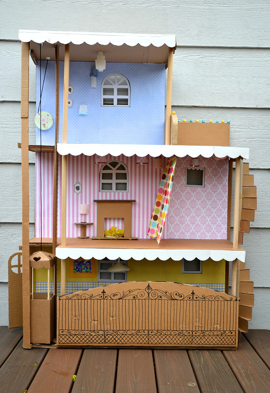 Cardboard Barbie House