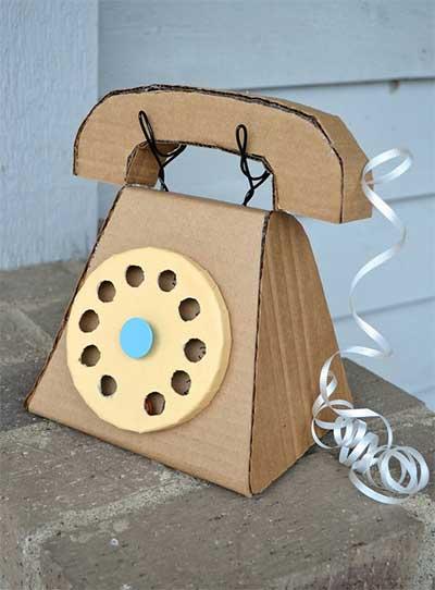 Un tel fono hecho con cart n bueno bonito y barato for Telefono oficina caixa