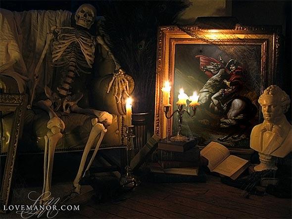 Love Manor ideas de decoración para Halloween
