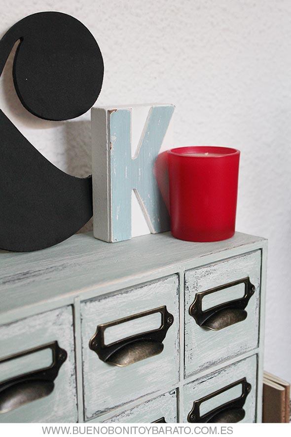 DIY Transforma una cajonera de Ikea en un archivador vintage