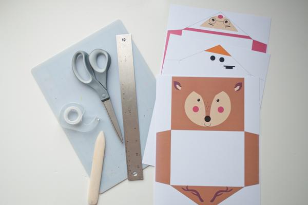 Imprimible sobres para tarjetas de navidad DIY
